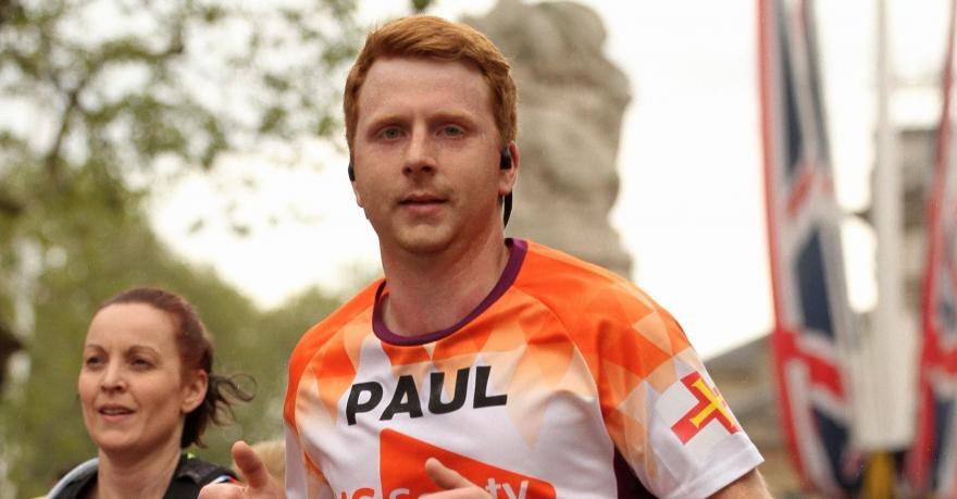 Paul Robinson running the London Marathon 2019