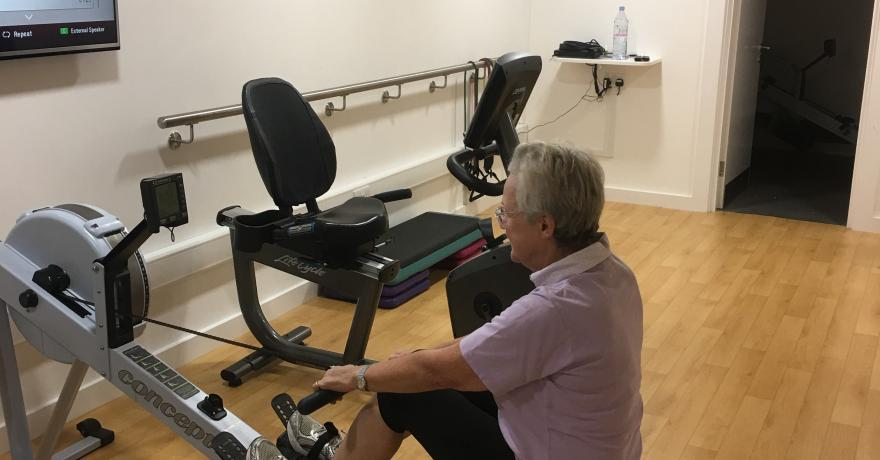 Rowing machine at Beau Sejour specialised exercise class