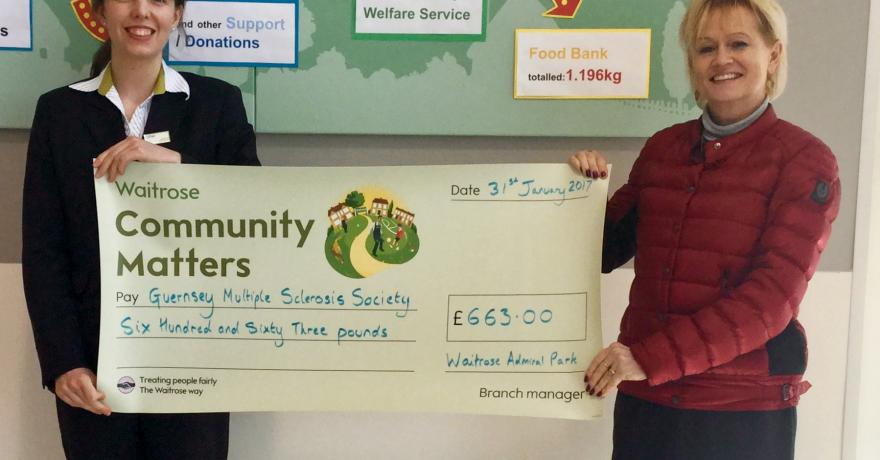 Gill Ford Collects Community Matters Cheque