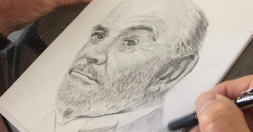 Drawing of Sean Connery