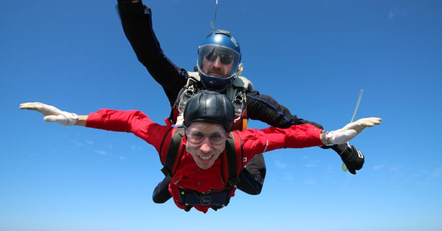 Sky-diving with the instructor